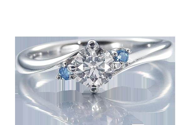 婚約指輪 ウェーブライン