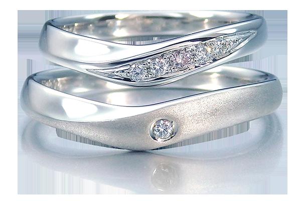 結婚指輪 Vライン