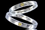 結婚指輪 イエローダイヤ