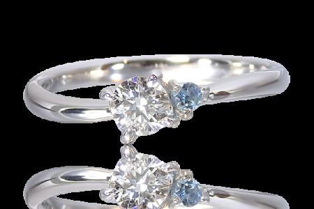 婚約指輪 サンタマリア・アクアマリン
