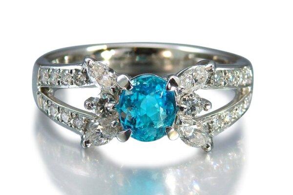 パライバトルマリンの指輪