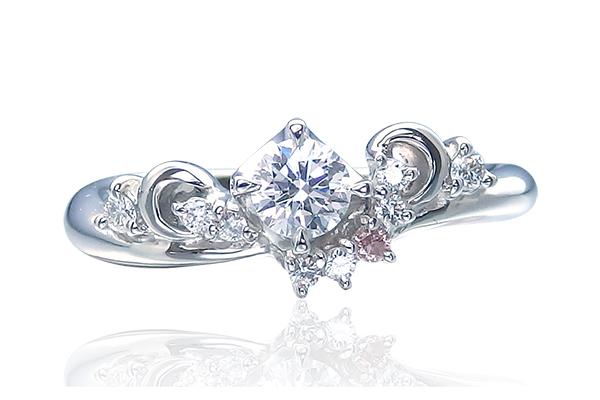 ピンクダイヤの婚約指輪