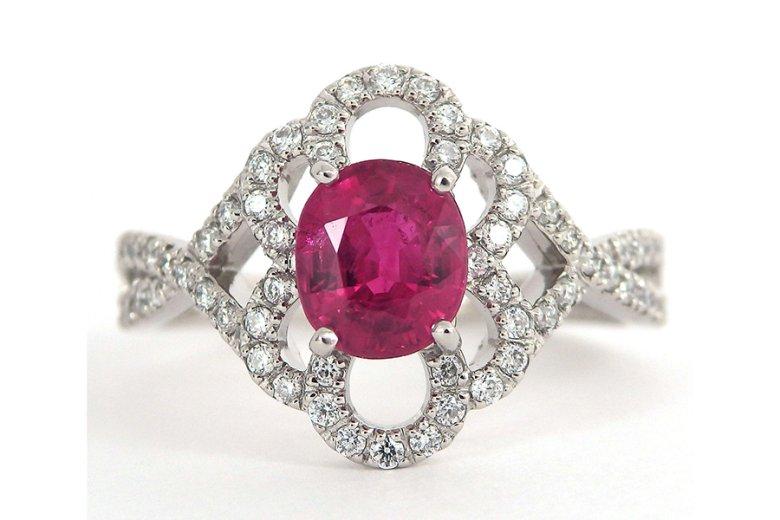 ミャンマー産ルビーの指輪