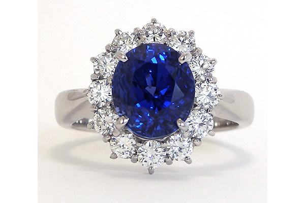 スリランカ産サファイアの指輪