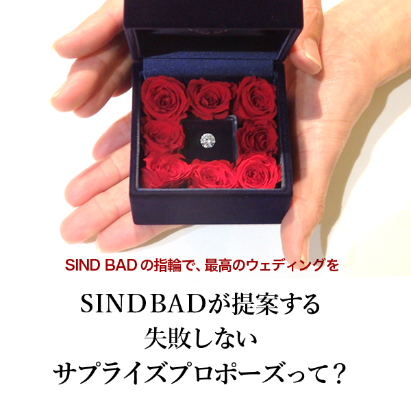 サプライズプロポーズの婚約指輪